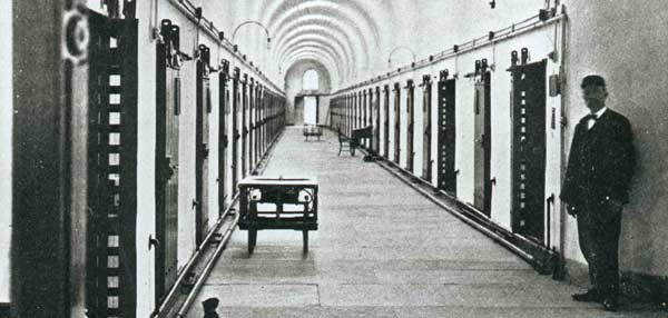 Eastern State Penitentiary's cellblock 4, circa 1935