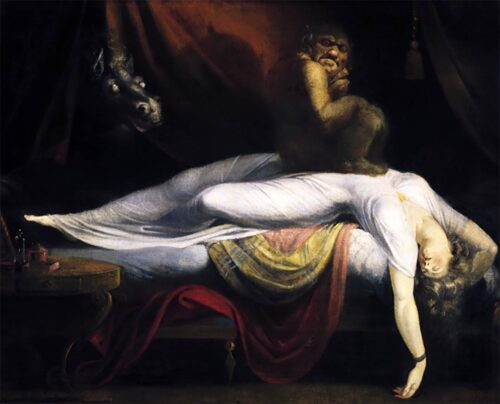 Sleep paralysis represented by Henry Fuseli's painting, The Nightmare